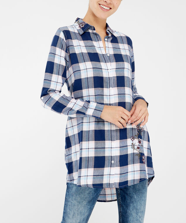 long sleeve plaid - wb, PLAID, hi-res