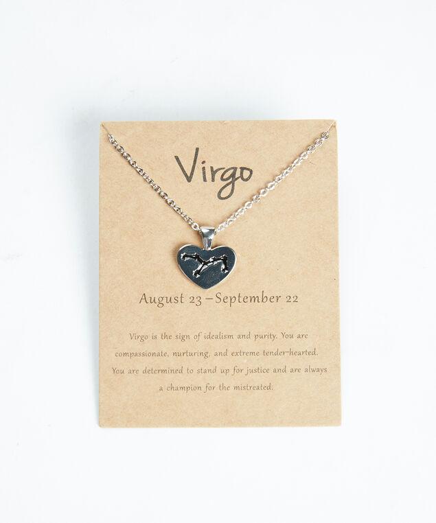 virgo zodiac necklace, Silver