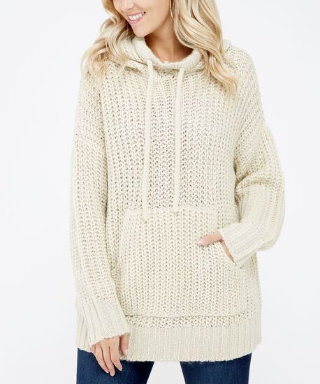 hooded sweater - wb, White, hi-res