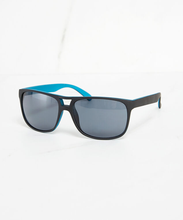 blue inner frame sunglasses, Black, hi-res