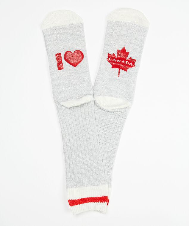 canada verbiage sock, Grey, hi-res