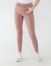 high rise skinny ankle - rose taupe