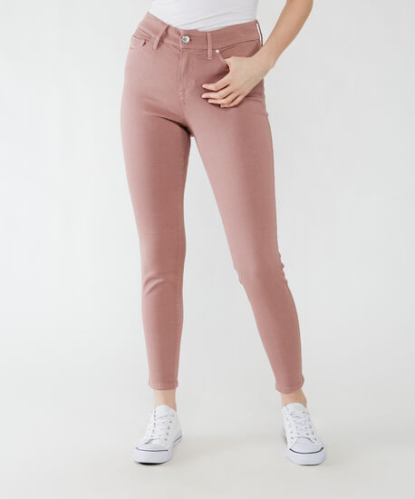 high rise skinny ankle - rose taupe, , hi-res