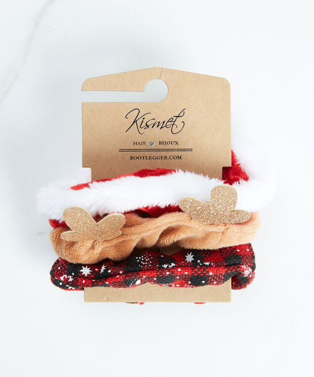 holiday scrunchies, Red/Black
