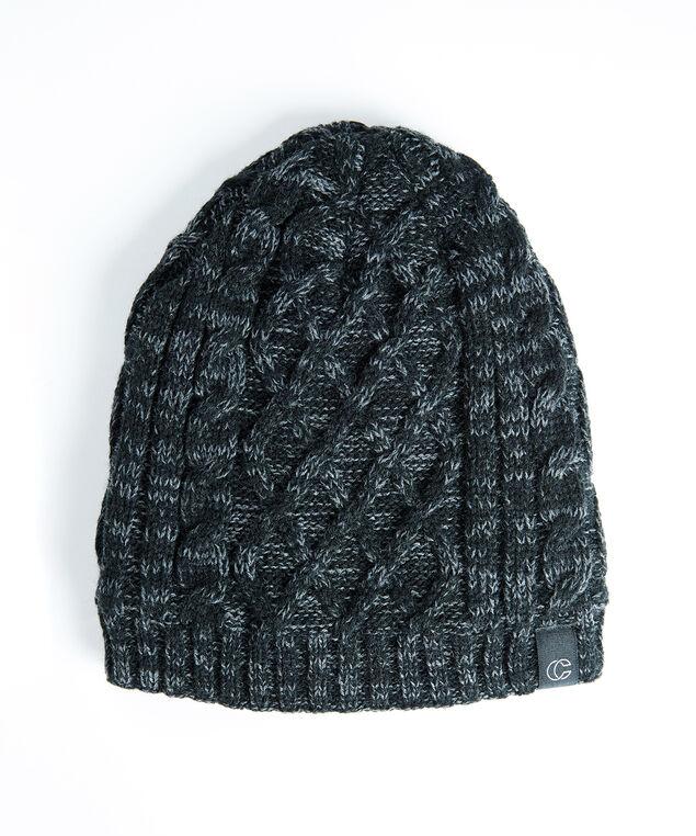 men's knit toque, Black
