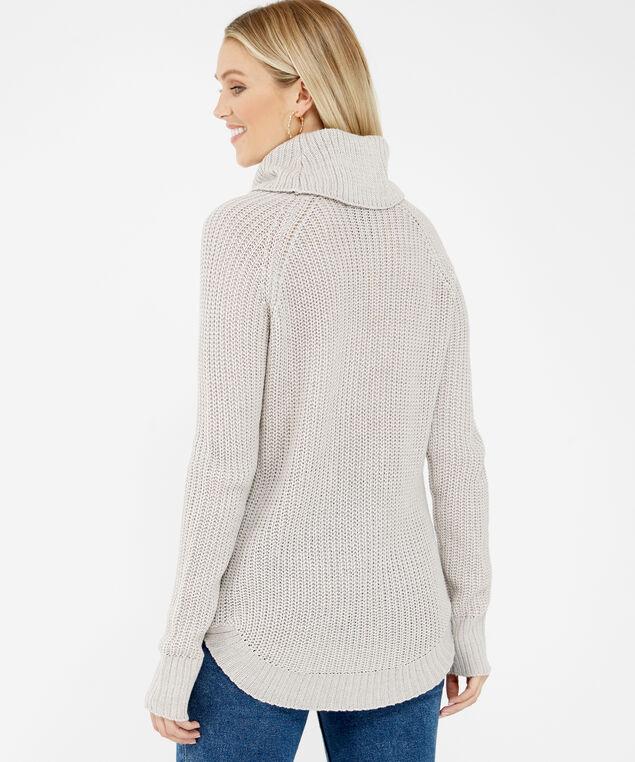 wide turtleneck sweater - wb, Natural, hi-res