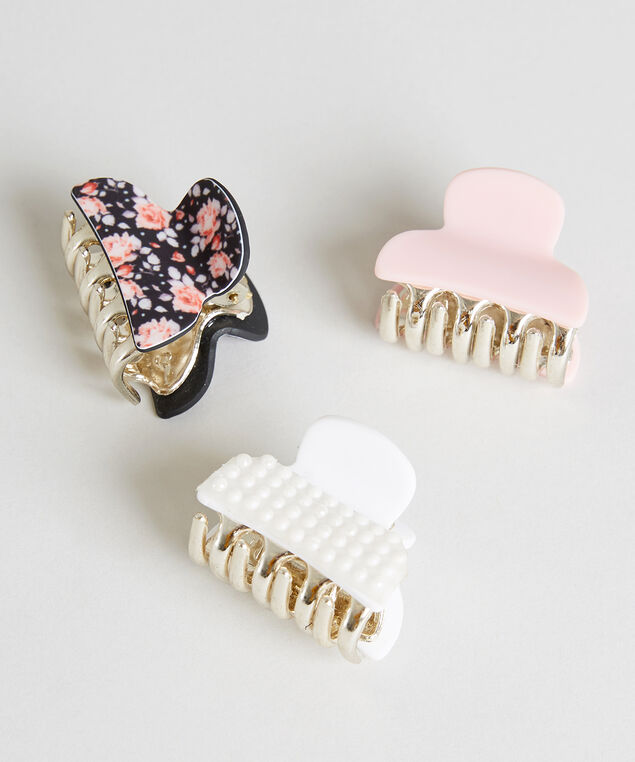 multi pack of claw clips - wb, MULTI, hi-res