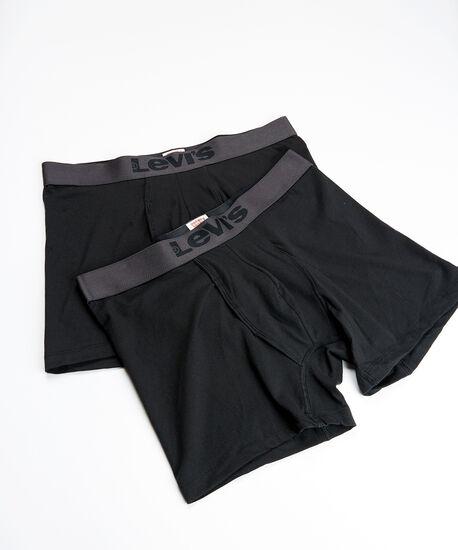 2 pack levis boxer brief, Black, hi-res