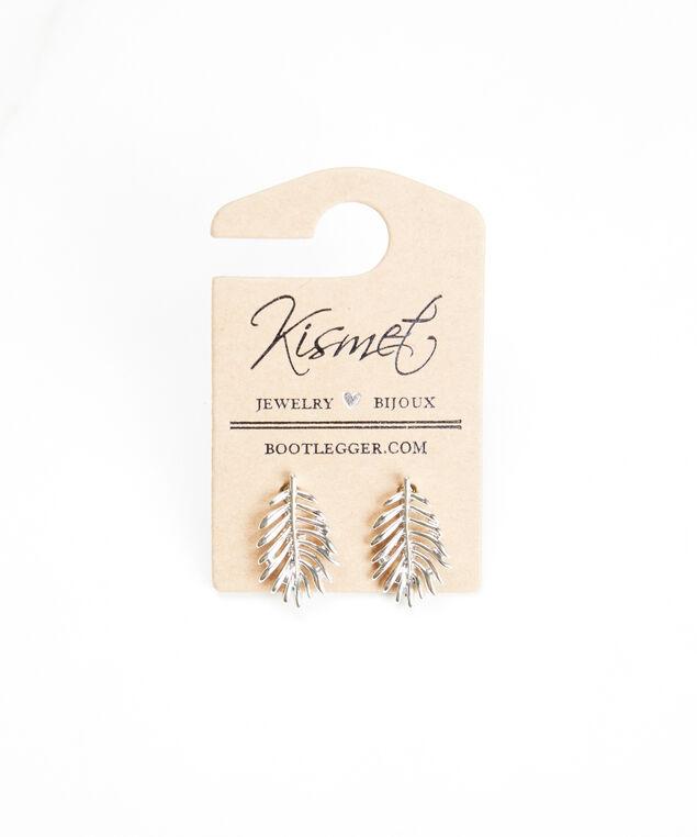 feather earrings, Silver