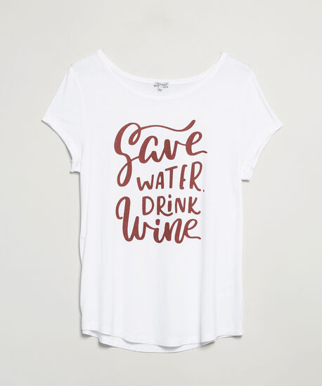 save water drink wine, White, hi-res