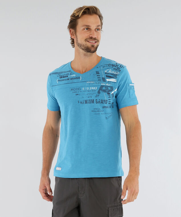 v neck with graphic - wb, BLUE JAY, hi-res