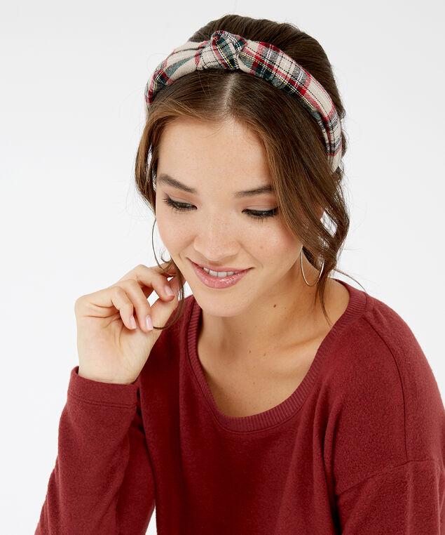 plaid headband, PLAID, hi-res