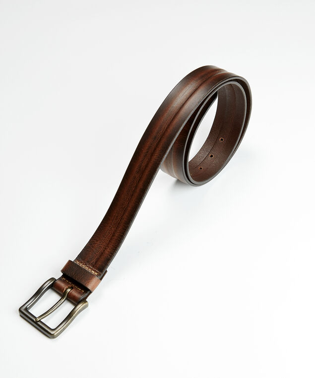 distressed leather belt, Brown