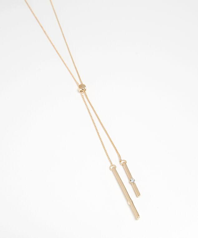 gold lariat necklace, GOLD, hi-res