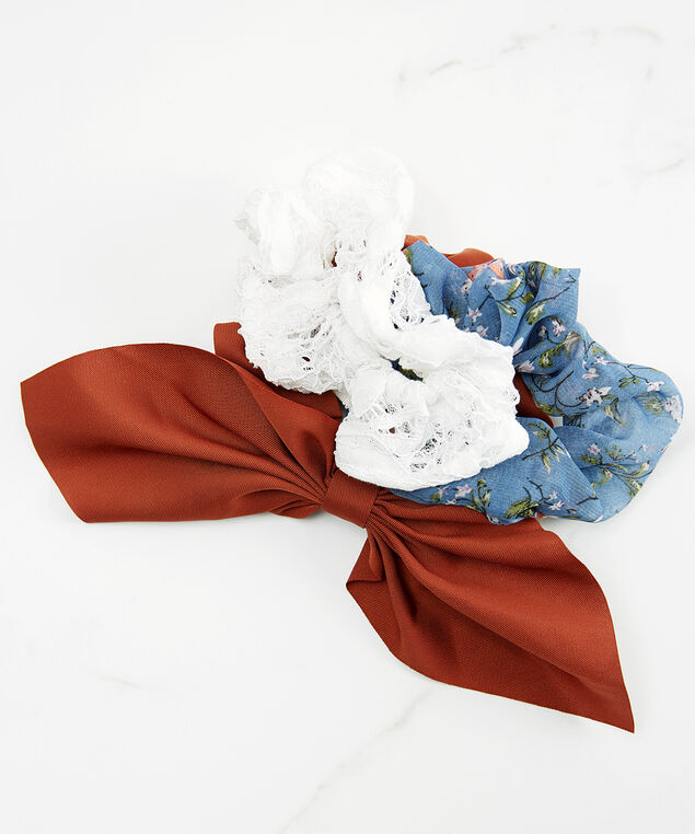 3 pack of hair scrunchies, Assorted