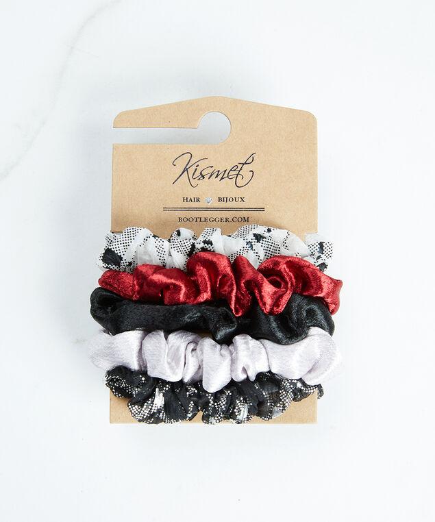 mini scrunchies, Red/Black