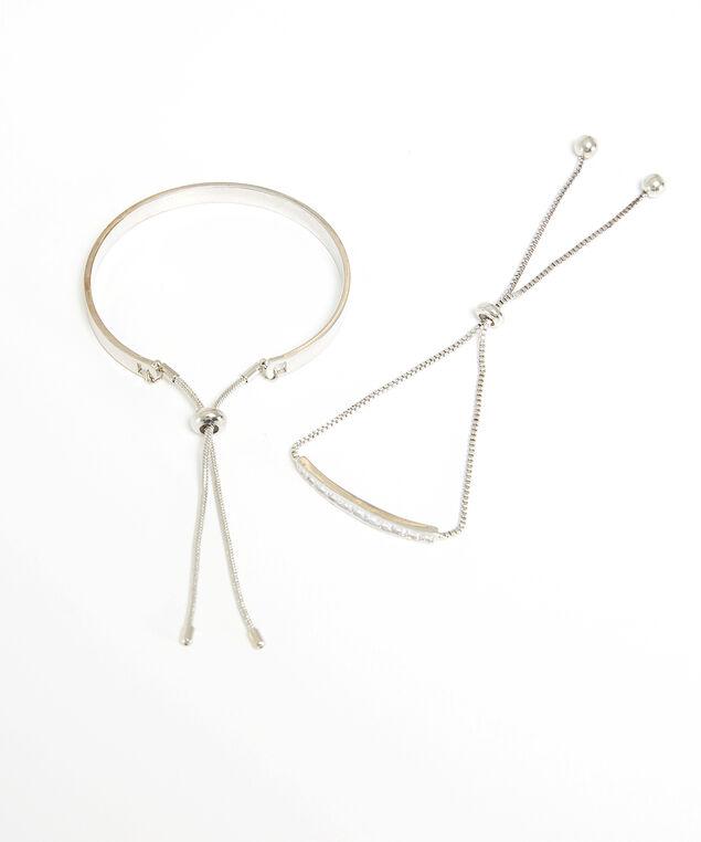 lariat bracelet duo, Silver, hi-res