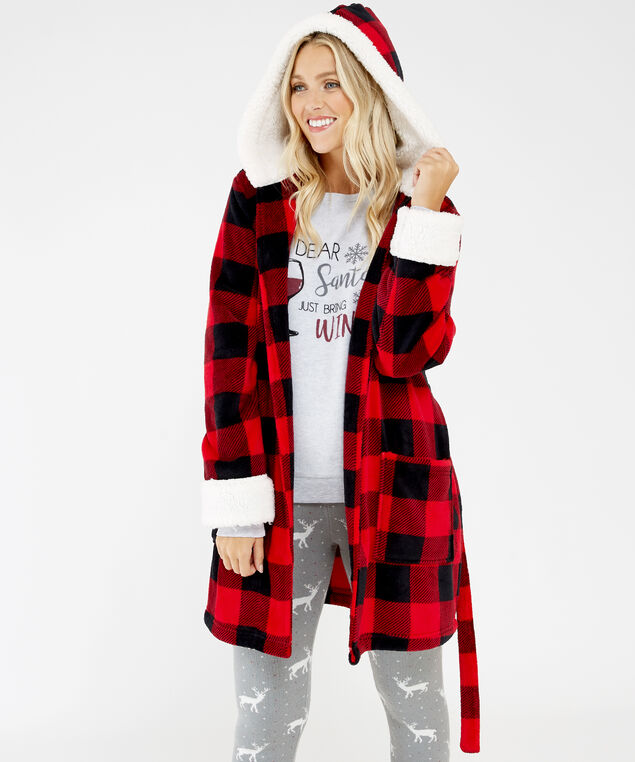 noel robe h19, Red Check, hi-res
