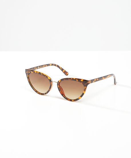 tortoise shell cat eye sunglasses, brown, hi-res