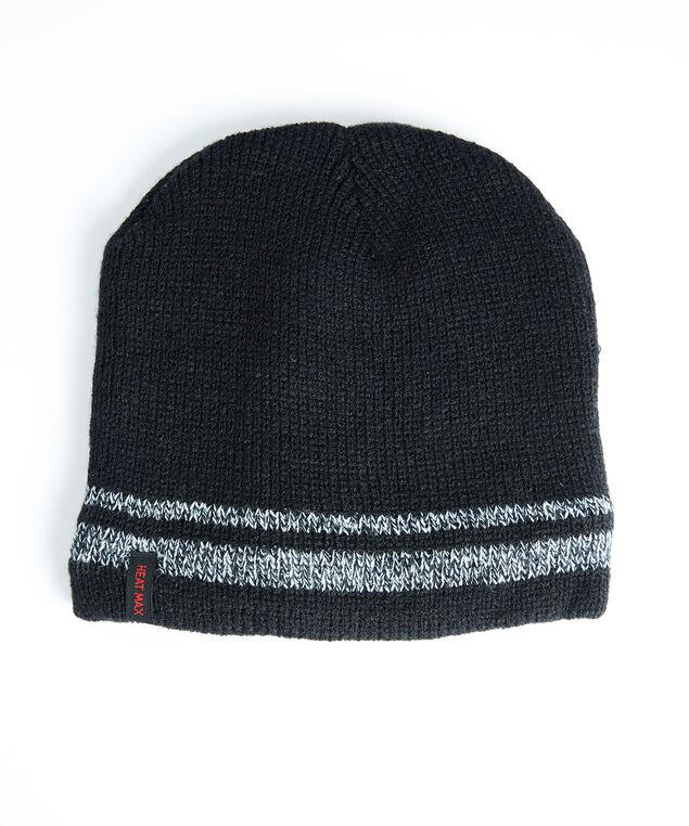 men's thermal knit toque, Black/Grey