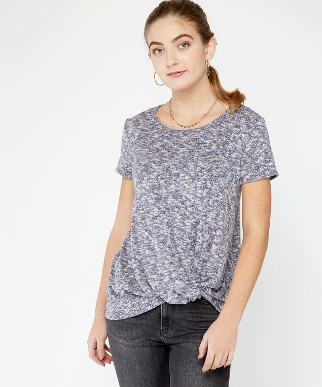 twisted hem tee, Navy
