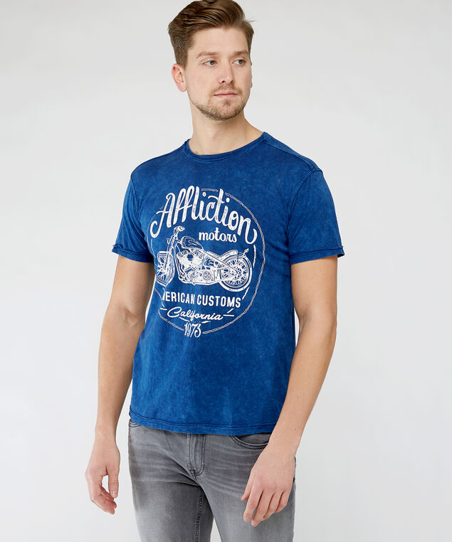 american customs graphic tee, Blue
