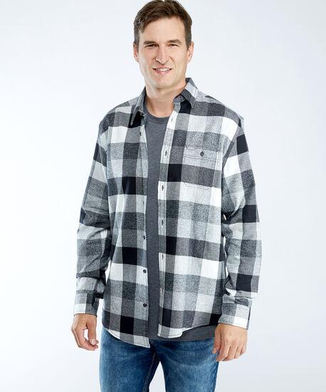 flannel shirt, Grey/Eggshell, hi-res