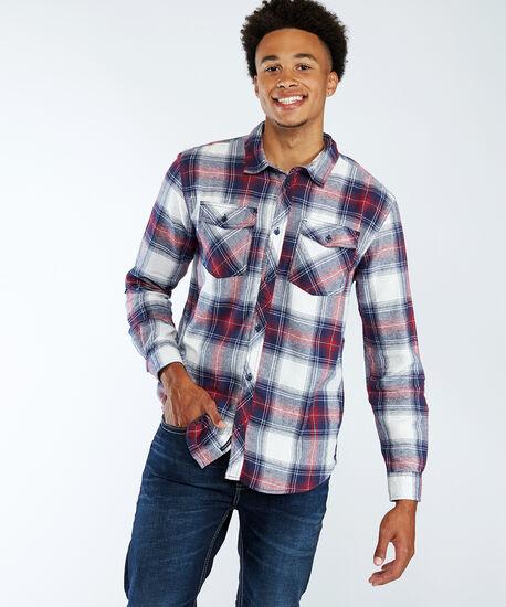 plaid shirt, Black Pattern, hi-res