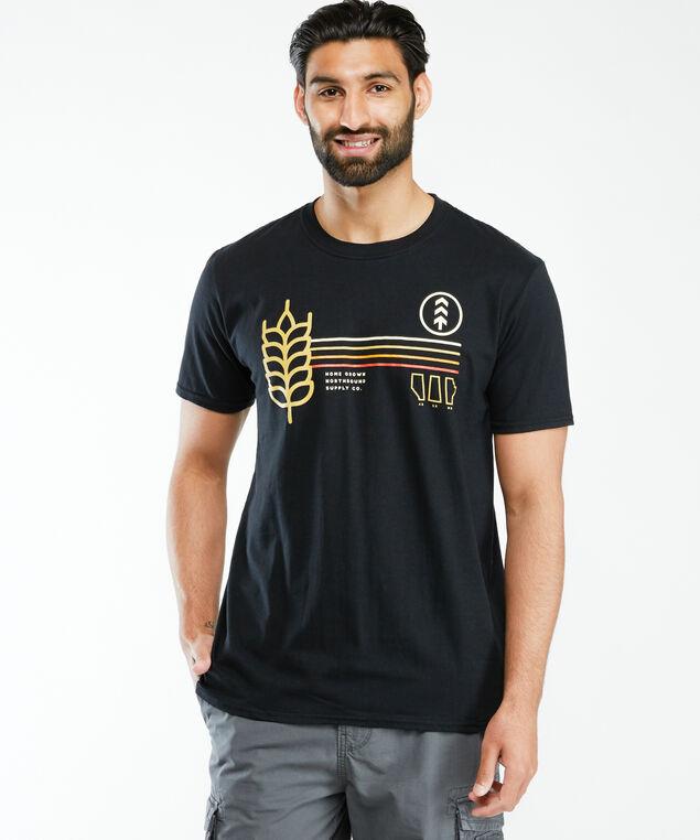 homegrown screen t-shirt, Black
