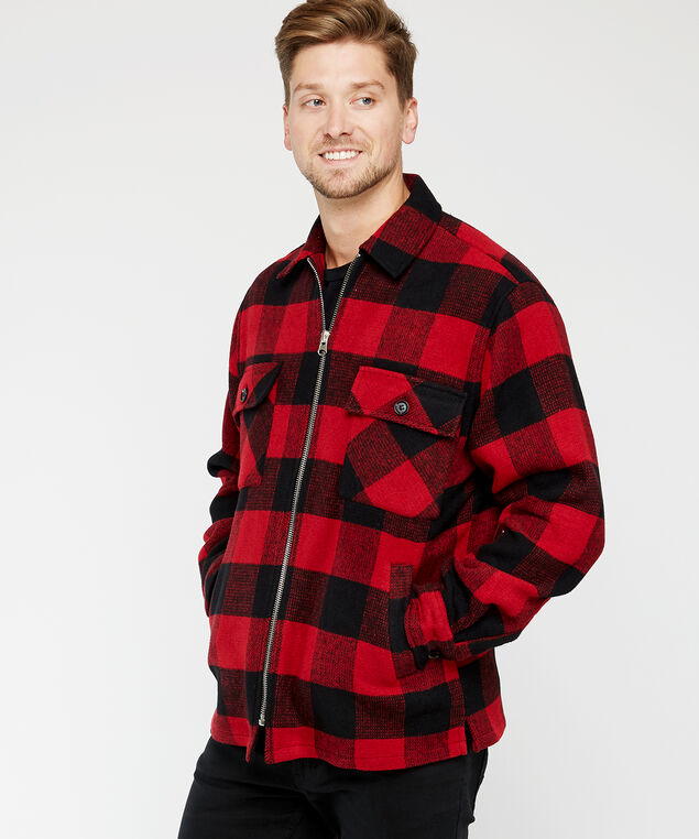 buffalo plaid jacket, Multi, hi-res