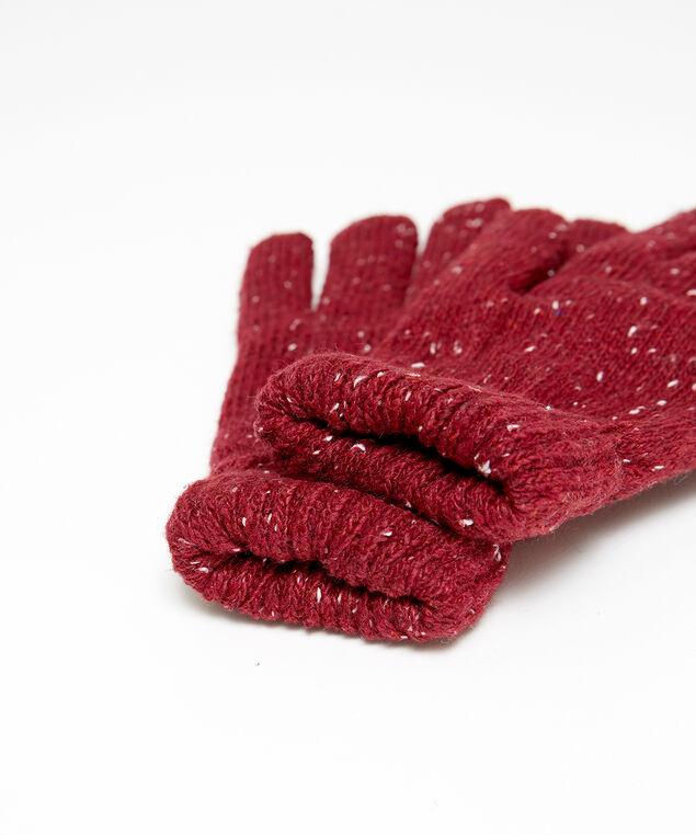 speckled gloves, RED, hi-res