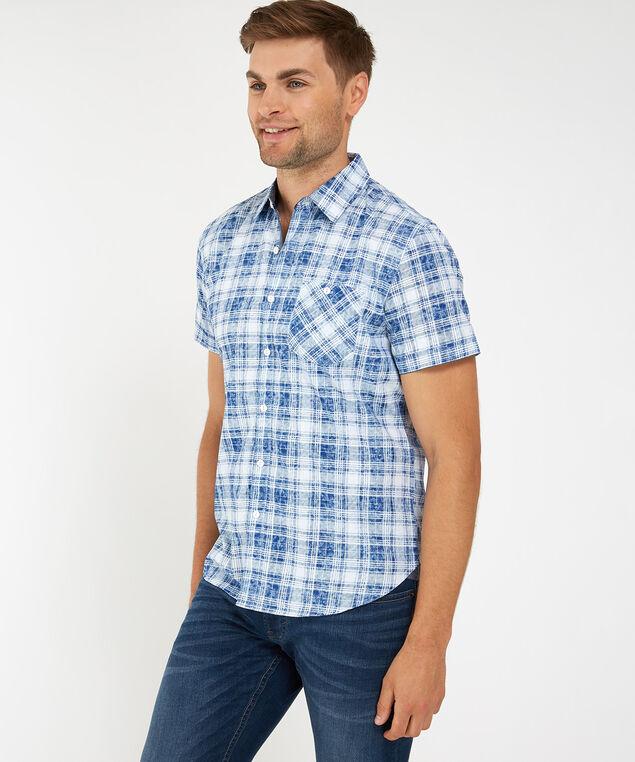 button down shirt, BLUE, hi-res