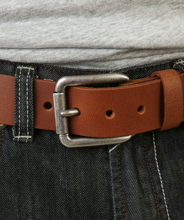 men's leather belt, PEANUT