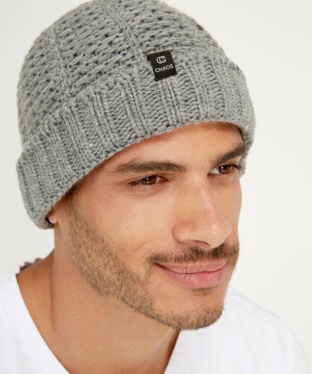 chaos knit toque, GREY, hi-res