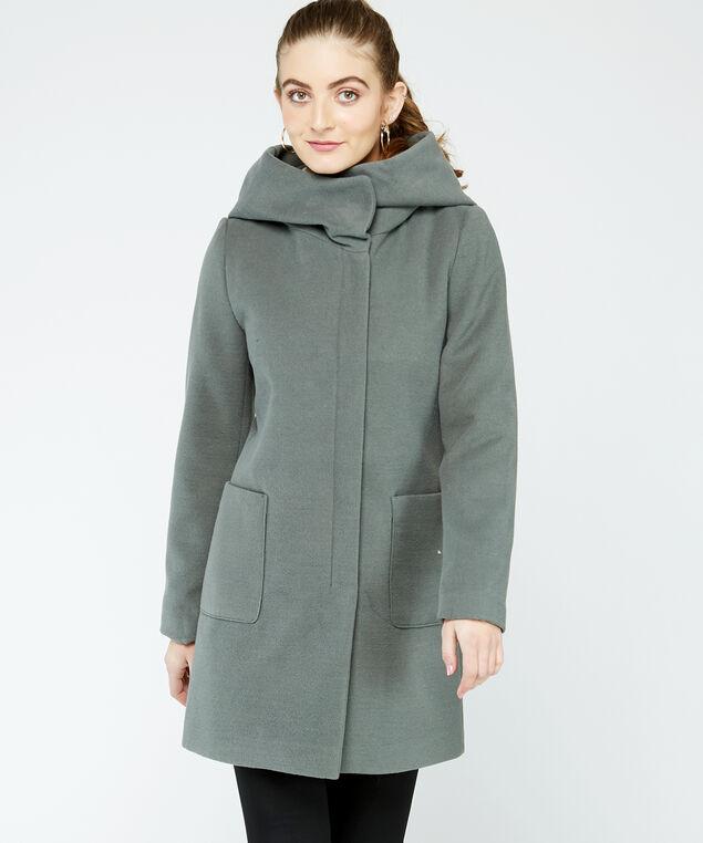 melton coat, Sage