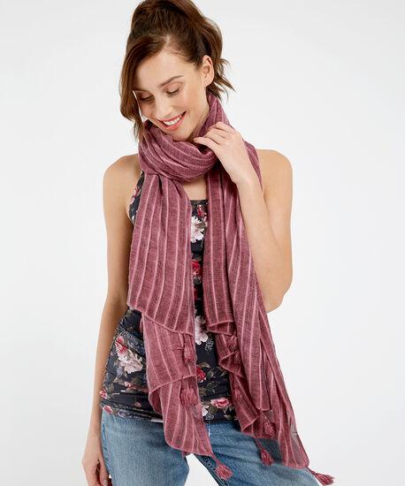 burgundy textured scarf, BURGUNDY, hi-res