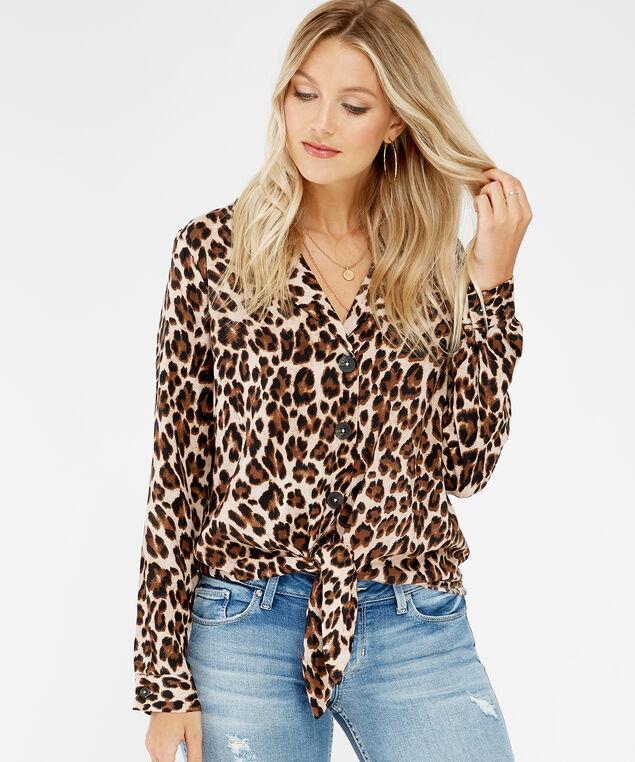 leopard print shirt - wb, leopard print, hi-res