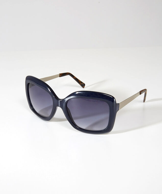 oversized square sunglasses, NAVY, hi-res