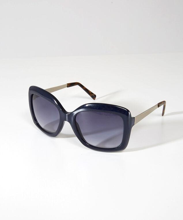 oversized square sunglasses, NAVY, hi-res