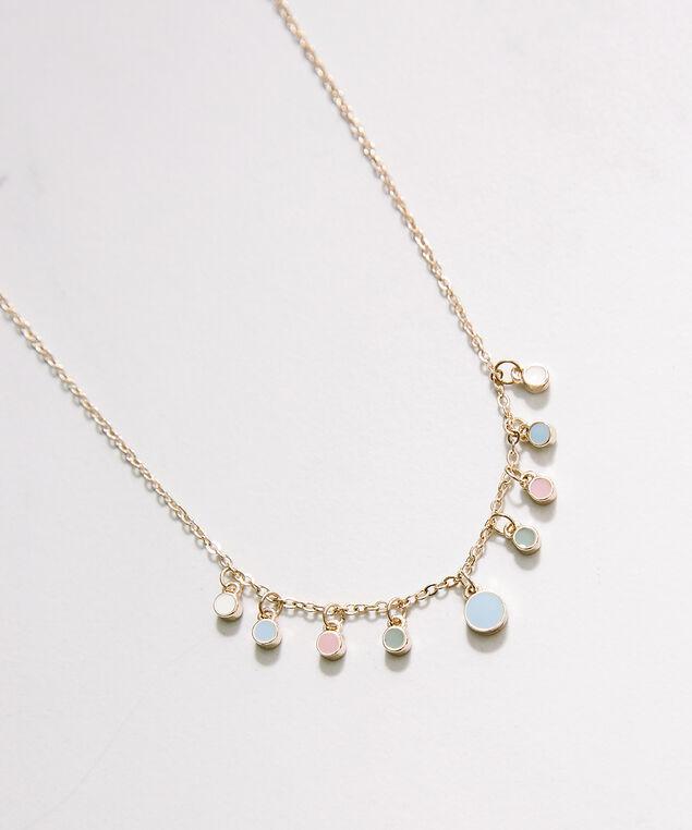 tiny circle necklace, Rose, hi-res