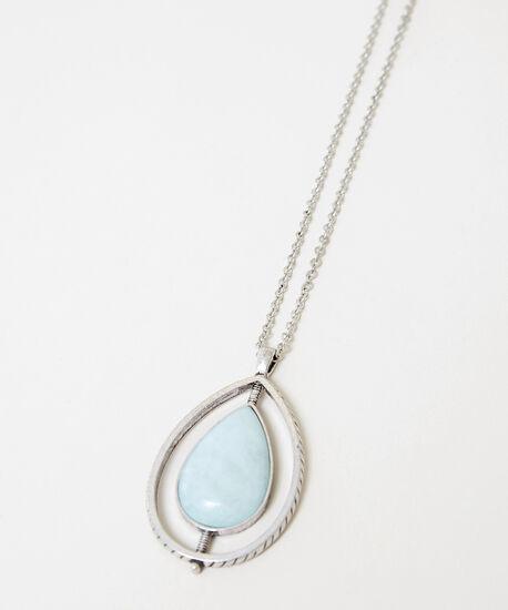 long pendant fiesta necklace, SILVER, hi-res