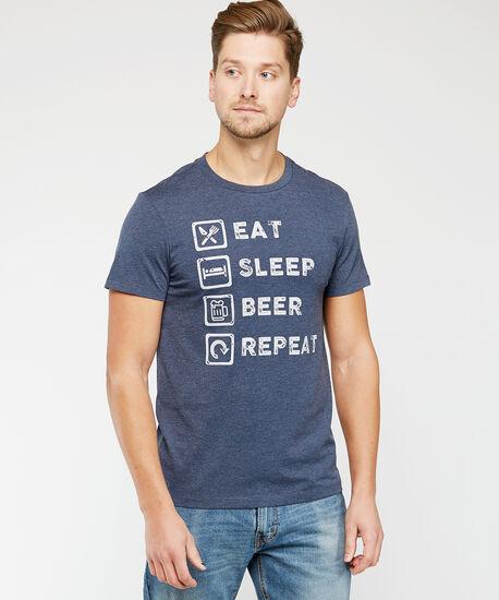 beer list tee, Blue, hi-res