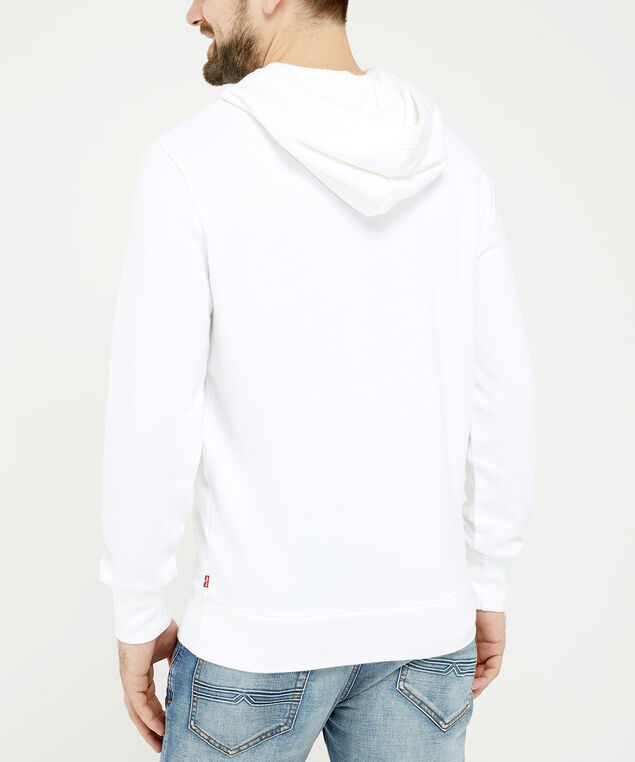 levi's white logo hoodie - wb, White, hi-res