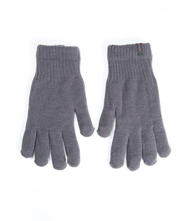 men's heat max gloves, Charcoal