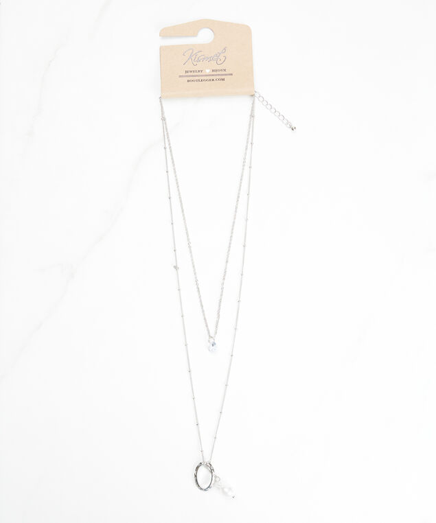 pearl pendant necklace, Silver