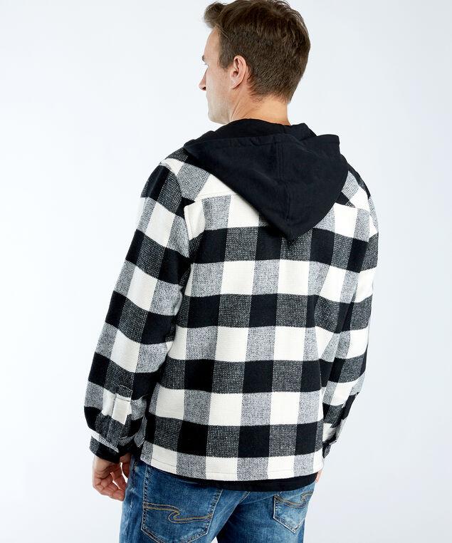 plaid jacket, Black/Cream