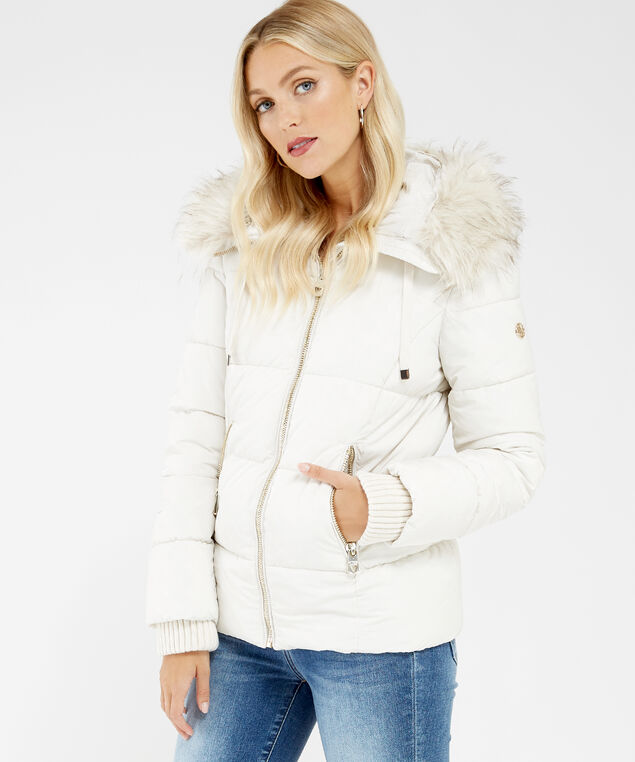 puffer jacket - wb, CREAM, hi-res