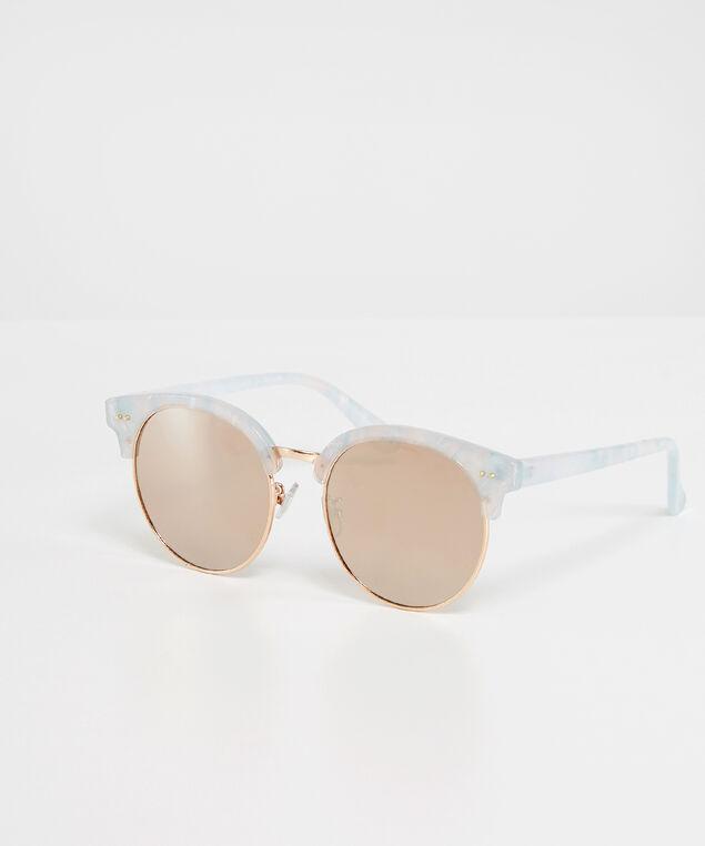 pearl detail sunglasses, GOLD, hi-res