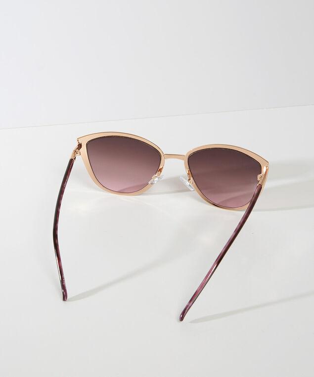 metal cat eye sunglasses, Gold, hi-res