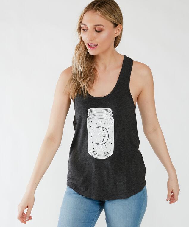 moon jar tank, Charcoal Melange